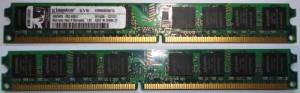 Модуль оперативной памяти DDR2 размером 1 Гб фирмы Kingston