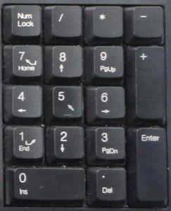 Блок дополнительных клавиш (цифровая клавиатура)